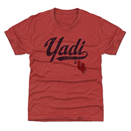 (500 LEVEL St. Louis Baseball Youth Shirt - Kids X-Small (4-5Y) Tri Red - Yadier Molina Players Weekend B)