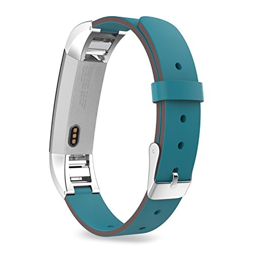 MoKo Fitbit Alta HR and Alta Band , Premium Soft Genuine Leather Replacement Strap for Fitbit Alta / Fitbit Alta HR Smart Fitness Tracker, Fits 5.31