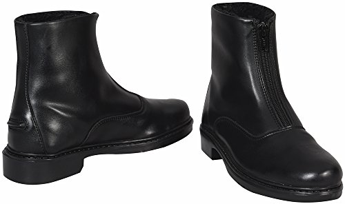 TuffRider Ladies Starter Winter Fleece-Lined Front Zip Paddock Boots - Synthetic - Black - Size 8