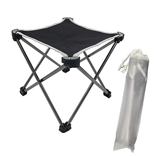 Uniprime Camp Stool for Women and Kids Small Folding Stool for Camping Backpacking Hiking Fishing Travel