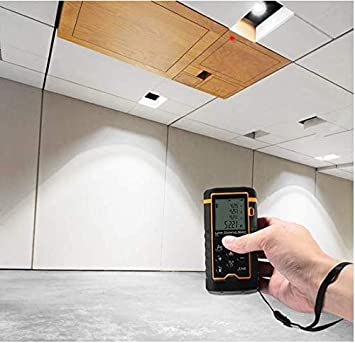 40/m//39,9/m portable Poign/ée Outil de mesure T/él/ém/ètre num/érique avec niveau /à bulle et grand /écran LCD r/étro/éclair/é 4/Line Laser Distance M/ètre 40/m