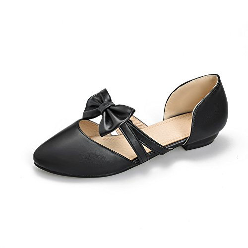 AN Womens Flats-Sandals Toggle Baguette-Style Urethane Flats Sandals DIU00765 Black bmplV