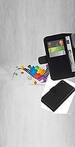 NEECELL GIFT forCITY // Billetera de cuero Caso Cubierta de protección Carcasa / Leather Wallet Case for Sony Xperia Z3 D6603 // Dinosaurio Geometría