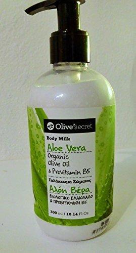Leche corporal (loción) con aceite de oliva orgánico y aloe vera, 300 ml: Amazon.es: Belleza
