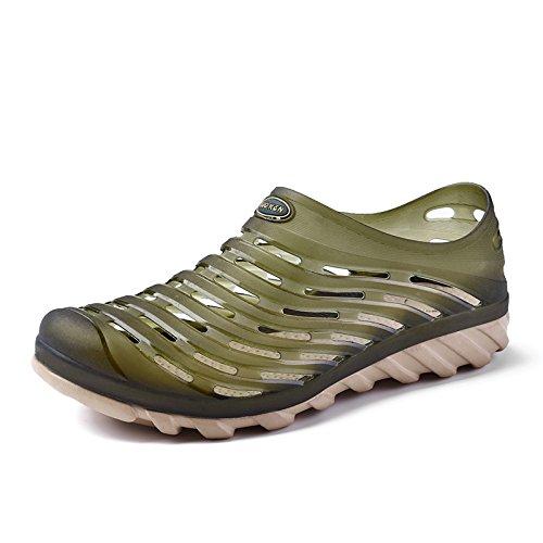 Xing Lin Sandalias De Hombre Los Hombres Del Agujero De Verano Sandalias Zapatos De Hombre De Baotou Nido Transpirable Deslizamiento Sandalias De Viajes De Verano Army Green