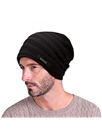 EINSKEY Mens Beanie Hat Winter Thick Fleece Lining Skull Cap Warm Knitted Hat