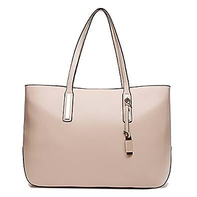 Miss Lulu Fashion Lady Shoulder Bag Leather Handbag for A4 Women Tote Shopping Bags