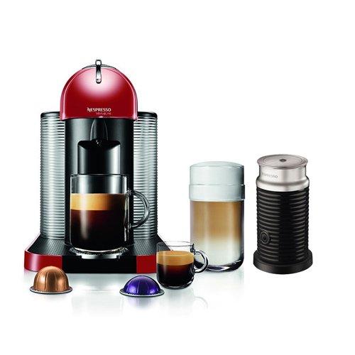 Nespresso VertuoLine Coffee Espresso Maker Machine w/ Milk Frother & 12 Capsules