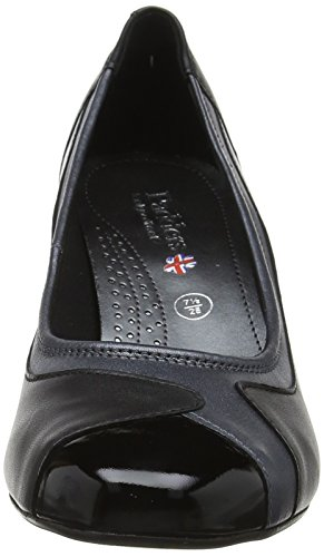 Chiusa Black Padders Tacco Col Scarpe Multicolour Multi Punta Jewel Donna 8wpwX