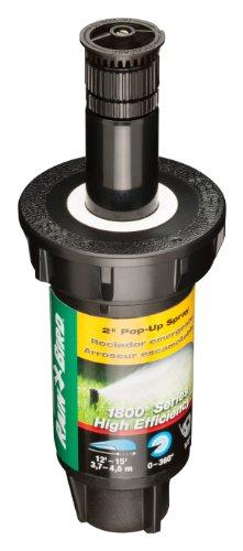 Rain Bird 1802HEVN15 High Efficiency Professional Pop-Up Sprinkler, Adjustable 0° - 360° Pattern, 8' - 15' Spray Distance, 2