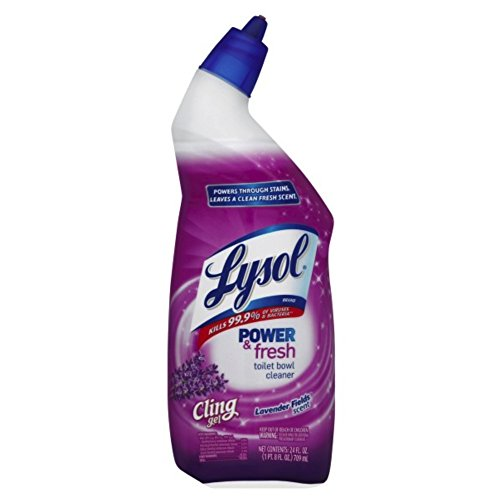 Lysol Power & Fresh Cling Toilet Bowl Cleaner, Lavender, 24 Ounce (Pack of 2) (Lysol Cling Toilet Bowl Cleaner)