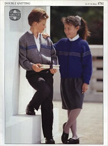 Sirdar Knitting Pattern 4781 : Children's Classic Striped Zipped Jacket (26-34in) (Double Knitting)