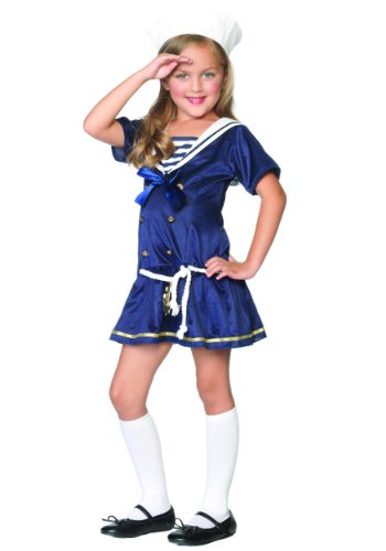 Shipmate Cutie Toddler Costume (X-Small (3T-4T)) - Shipmate Cutie Sailor Costumes