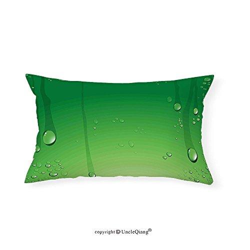 VROSELV Custom pillowcasesGreen Abstract Art Style Vector Illustration of Water Drops Background Print for Bedroom Living Room Dorm Fern Green Apple Green(14''x24'') by VROSELV