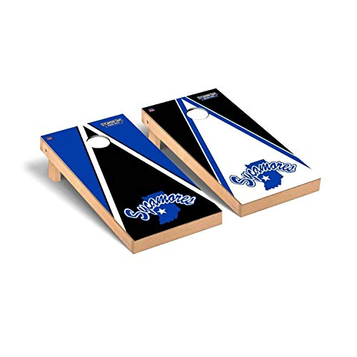 Victory Tailgate Regulation Collegiate NCAA Triangle Series Cornhole Board Set - 2 Boards, 8 Bags - Indiana State ISU Sycamores