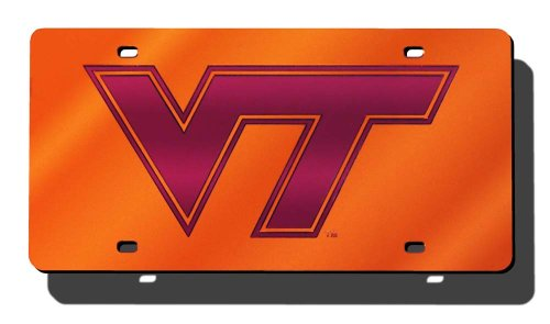 - Rico Industries NCAA Virginia Tech Hokies Laser Inlaid Metal License Plate Tag