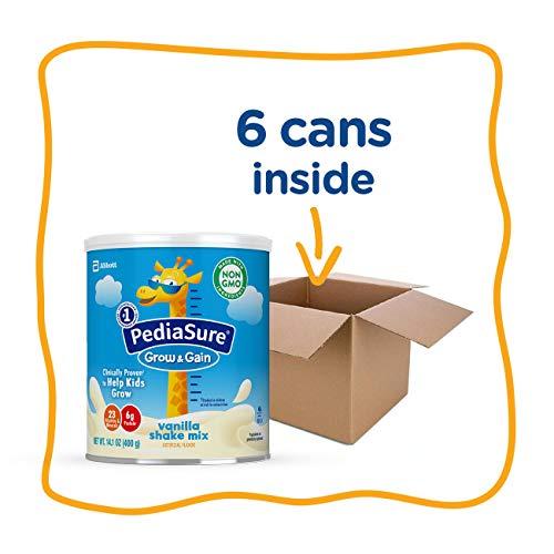 PediaSure Grow & Gain Vanilla Shake Mix, Nutrition Shake for Kids, 14.1 oz, 6 count by Pediasure Powder (Image #13)