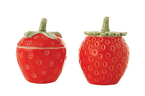 Sugar Cookies Strawberry - Creative Co-op Summer Strawberry Ceramic Jars - Set of 2