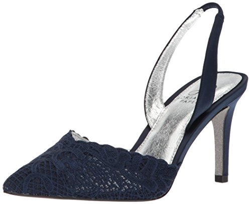 Adrianna Papell Women's Hallie Pump, Navy attalie lace, 5.5 M US