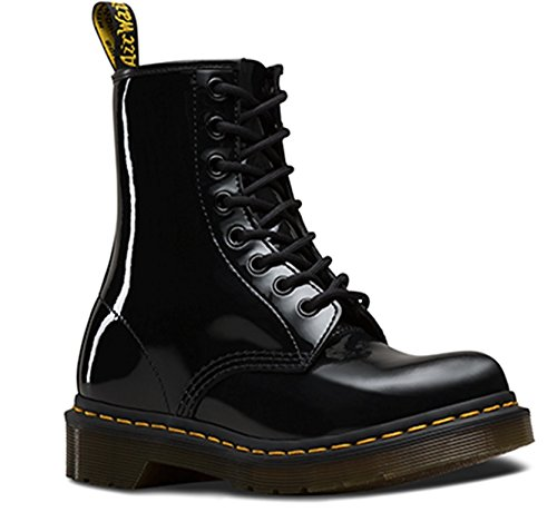 Dr.Martens Womens Vonda 14 Eyelet Black Leather Boots 7 US by Dr. Martens