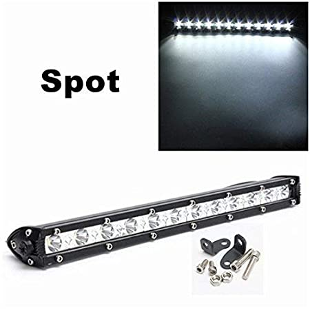 ePathChina® Barra curvada de haz de puntos de luz de 33,02 cm y 36 W. Lámpara para trabajo y conducción de 16.200 lm con LED Cree. Conducción todoterreno.