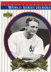 Upper Deck World Series (2002 Upper Deck World Series Heroes Baseball Card #81 World Series Mint)