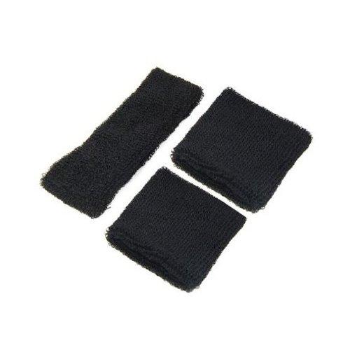 Dcolor 1 bandeau pour tete + 2 bracelets/Noir