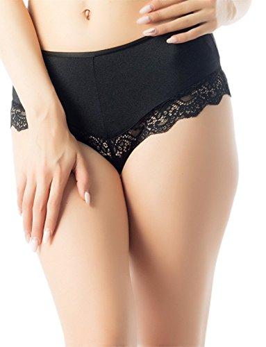 iB-iP Mujer Tiras De Tela De Araña Ojete D Mediados De Cintura Pantalón Hipster Negro