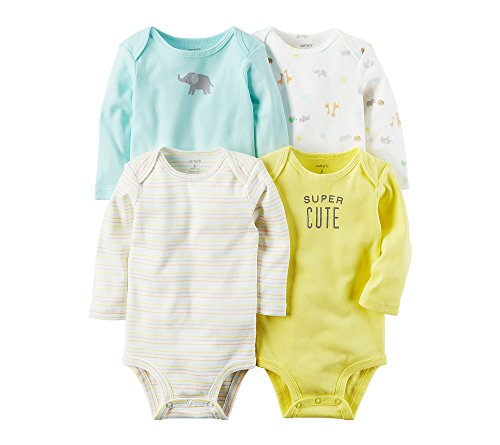 Carter's Baby 4-Pack Super Cute Bodysuits 3 Months