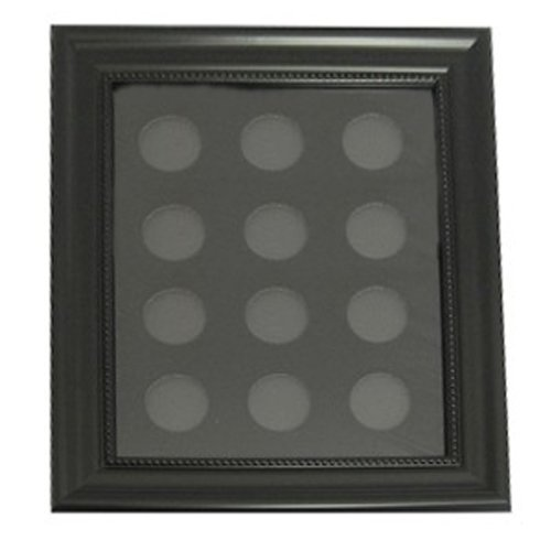 Casino Chip Insert - 12 Casino Chip 8'' x 10'' Display Board Case with Frame Included by Spinettis