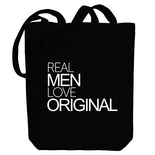 Idakoos Real men love original - Adjektive - Bereich für Taschen