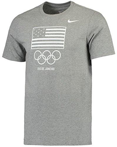 Team USA Nike Flag Rings T-Shirt (Gray, Small)