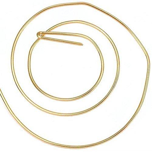 14K Gold Filled Wire Half Round/Half Hard 22 Gauge-5 Ft