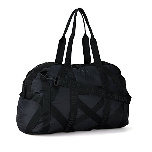 Under Armour Womens This Is It Gym Bag, Black (001)/Metallic Faded Gold, One Size