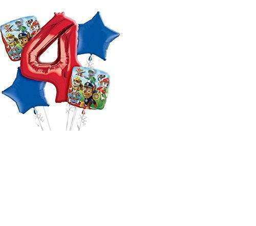 PAW Patrol 4th Birthday Balloon Bouquet 5pc by Amscan