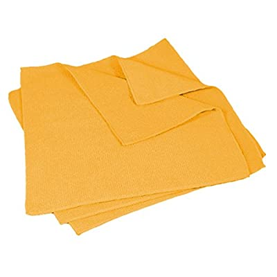 "Buffalo Industries (64008) 16"" x 16\"" Microfiber Cleaning Cloth, Yellow (Pack of 50): Automotive [5Bkhe1007428]"