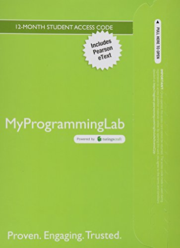 MyLab Programming with Pearson eText -- Access Card -- for Introduction to Programming with C++ by Brand: Prentice Hall