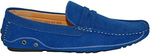 fc15ac140b7f5 KRAZY SHOE ARTISTS Blue Penny Loafer Slip On Mens Driver, Size 10-5 ...