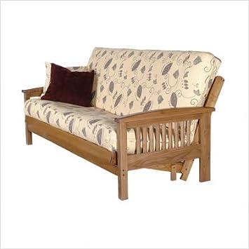august lotz f7717am   f2002 san marcos solid oak futon frame amazon    august lotz f7717am   f2002 san marcos solid oak futon      rh   amazon