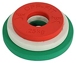 CFF Competition Rubber Fractional Weight Plates - .25, .5, & 1 Kg Pairs - 3.5 Kg Set