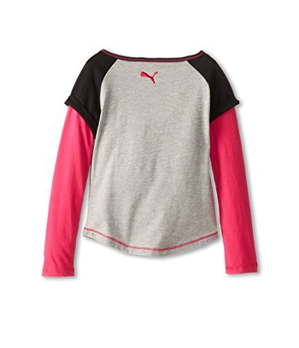 Sports Lifestyle by Puma Big Girls Long Sleeve Raglan Shirt - Gray (6X) by PUMA