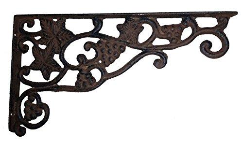 Large Scrolled Vining Grape Plant Hanger or Decorative Corner Bracket