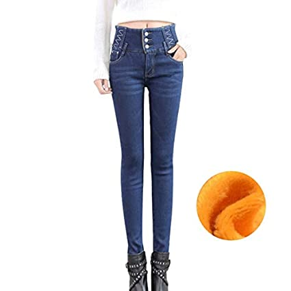 c031da83ba6 Amazon.com  TreeMart Autumn Winter Push Up Plus Size Jean with High ...