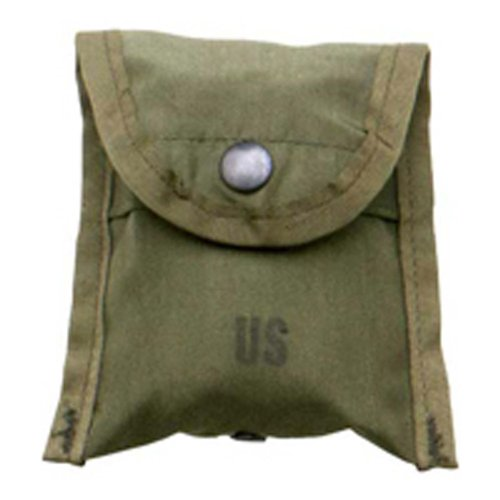 Military Outdoor Clothing Previously Issued U.S. G.I. Olive Drab Nylon Compass First Aid Pouch - Gi Style Jungle