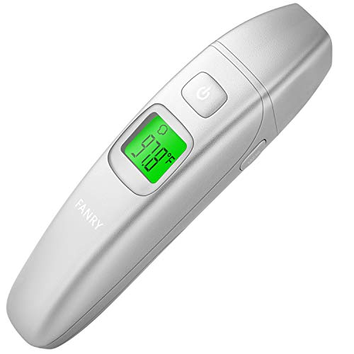 FANRY Forehead and Ear Thermometer for Baby, Kids and Adults - Accurate Temperature - Medical Design Digital Thermometer for Fever - with CE Approved