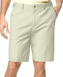 Geoffrey Beene Extender Waist Flat Front Shorts Size 32 Beige
