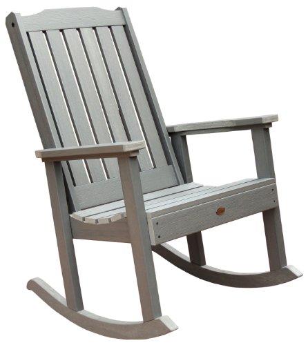 Highwood Lehigh Rocking Chair, Coastal Teak - Adirondack Collection Teak Furniture