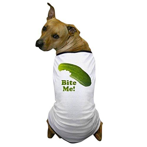 CafePress - Bite Me! Pickle Dog T-Shirt - Dog T-Shirt, Pet Clothing, Funny Dog -