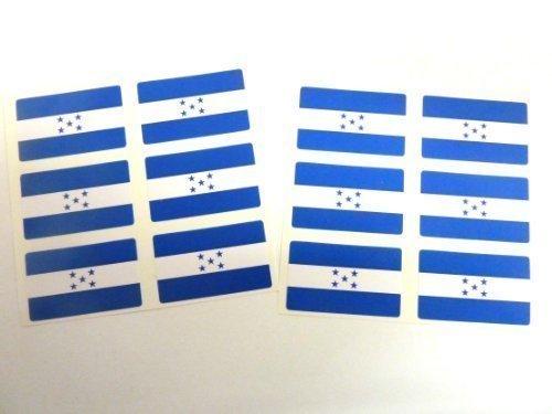 Mini Pack De Pegatinas, 33x20mm Rectangulares, autoadhesivo Honduras Etiquetas, Honduras Pegatinas Con Banderas Minilabel