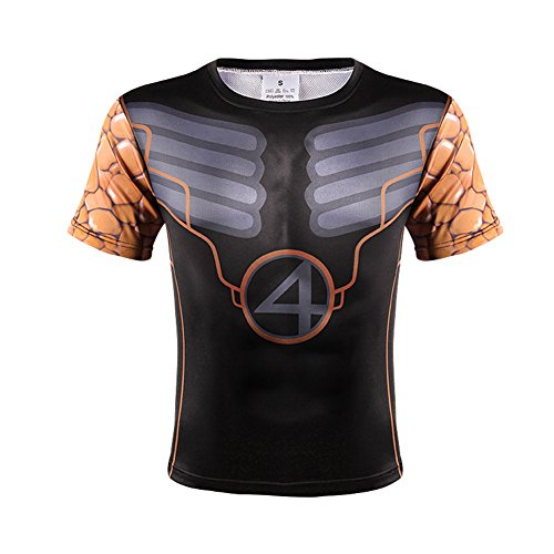 Film Role Sprort Tights With Short Sleeves 3D Printing unisex T-shirt Personal Stereo Running Basketball Training Tops Sweat Tees Iron Man superman